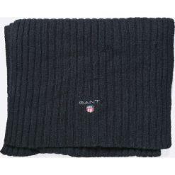 Gant - Szalik. Czarne szaliki męskie marki GANT, z dzianiny. W wyprzedaży za 219,90 zł.