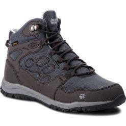 Trekkingi JACK WOLFSKIN - Activate Texapore Mid W 4024432 Phantom. Czarne buty trekkingowe damskie marki Jack Wolfskin, w paski, z materiału. W wyprzedaży za 379,00 zł.