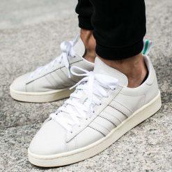 """Buty adidas Campus """"Footwear White"""" (BZ0065). Białe buty skate męskie Adidas, z materiału, adidas campus. Za 169,99 zł."""