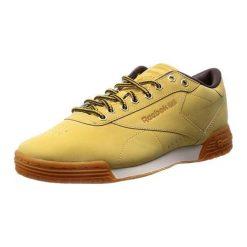 Buty sportowe męskie: Skórzane buty sportowe w kolorze beżowym