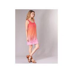 Sukienki krótkie Desigual  IJAPPE. Brązowe sukienki mini marki Desigual, z krótkim rękawem. Za 307,30 zł.