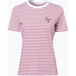 ARMEDANGELS - T-shirt damski – Lida, czerwony. Czerwone t-shirty damskie ARMEDANGELS, xl, z haftami. Za 179,95 zł.