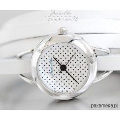 Prezent - Zegarek - Dots + Biały. Białe zegarki damskie Pakamera, szklane. Za 99,00 zł.