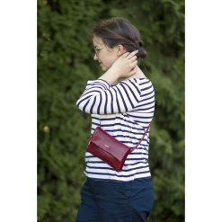 ELLE - skórzana torebka na biodro, nerka. Szare torebki klasyczne damskie marki Pakamera, małe. Za 280,00 zł.