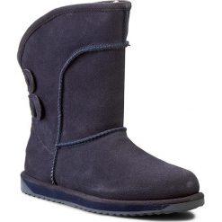 Buty EMU AUSTRALIA - Charlotte W10843 Indigo. Niebieskie buty zimowe damskie EMU Australia, z gumy. W wyprzedaży za 499,00 zł.