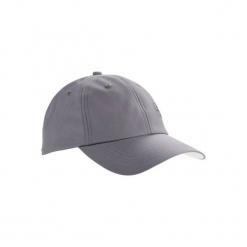 Czapka z daszkiem do golfa. Szare czapki z daszkiem damskie INESIS, z materiału. Za 19,99 zł.