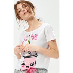 Dwuczęściowa piżama z nadrukiem - Jasny szar. Szare piżamy damskie marki Sinsay, l, z motywem z bajki. Za 49,99 zł.