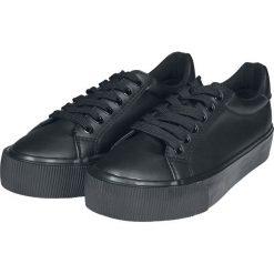 Urban Classics Plateau Sneaker Buty sportowe czarny. Czarne buty sportowe damskie marki Urban Classics, z aplikacjami, z materiału. Za 79,90 zł.