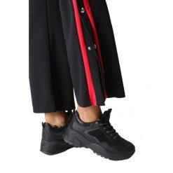 Czarne buty sportowe sneakersy sznurowane Casu 7-K591A. Czarne buty sportowe damskie marki Casu. Za 69,99 zł.