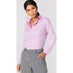 Moves Sweter Nilly - Purple. Fioletowe swetry oversize damskie Moves, z dzianiny. W wyprzedaży za 48,59 zł.