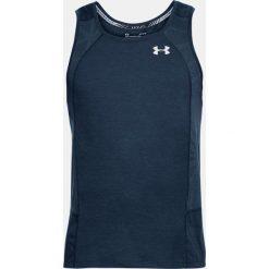 Under Armour Koszulka męska Swyft Singlet granatowa r. XL  (1318416-408). Szare koszulki sportowe męskie marki Under Armour, l, z dzianiny, z kapturem. Za 123,66 zł.