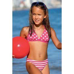 Dziewczęcy kostium kąpielowy Dot DP2. Szare stroje dwuczęściowe dziewczęce marki Astratex, w kropki, z materiału. Za 81,99 zł.