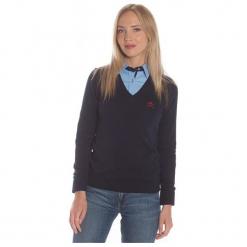 Polo Club C.H..A Sweter Damski Xl Ciemnoniebieski. Szare swetry klasyczne damskie marki Polo Club C.H..A, xl, dekolt w kształcie v. W wyprzedaży za 239,00 zł.