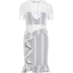 Three Floor FLEX Sukienka koktajlowa offwhite/black. Białe sukienki koktajlowe marki Three Floor, z elastanu. W wyprzedaży za 473,70 zł.