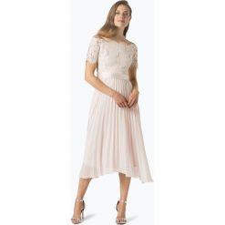Coast - Damska sukienka wieczorowa, różowy. Czerwone sukienki hiszpanki Coast, w koronkowe wzory, z koronki, wizytowe, plisowane. Za 999,95 zł.