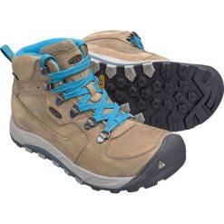 Buty trekkingowe damskie: Keen Buty trekkingowe WESTWARD MID LEATHER WP kolor brązowo-niebieski r. 40.5 (WESTWRDMWLT-WN-SHVB)