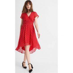 Sukienki: Asymetryczna sukienka w grochy