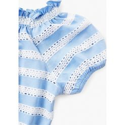 Mango Kids - Top dziecięcy Marta 110-164 cm. Fioletowe bluzki dziewczęce marki OLAIAN, z elastanu, sportowe. W wyprzedaży za 39,90 zł.