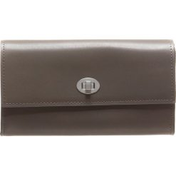 Portfele damskie: Skórzany portfel w kolorze szarym - 18 x 10 x 5 cm