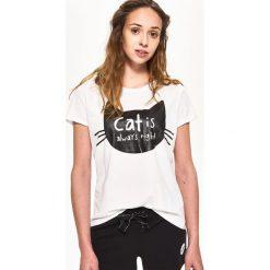 Piżamy damskie: Piżama dla kociary - Czarny