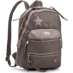 Plecak NOBO - NBAG-D4040-C019 Szary. Brązowe plecaki damskie marki Nobo, ze skóry ekologicznej, eleganckie. W wyprzedaży za 139,00 zł.