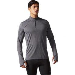 Koszulki sportowe męskie: Adidas Koszulka męska biegowa  Response 1/2 Zip Long Sleeve Tee szara r. L (B47699)