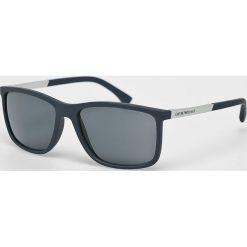 Emporio Armani - Okulary. Brązowe okulary przeciwsłoneczne męskie wayfarery Emporio Armani, z tworzywa sztucznego. Za 699,90 zł.