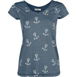 Bluzki asymetryczne: Urban Surface Anchors Koszulka damska granatowy