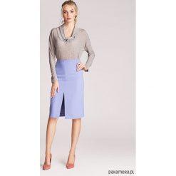 Spódniczki: Spódnica ołówkowa z rozcięciem