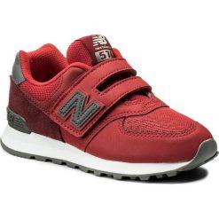Trampki chłopięce: Sneakersy NEW BALANCE – YV574D1 Czerwony