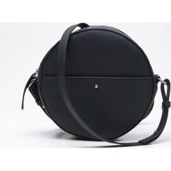 Torebki klasyczne damskie: Okrągła torebka na ramię - Czarny