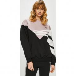 Adidas Originals - Bluza. Szare bluzy damskie adidas Originals, z bawełny, bez kaptura. Za 279,90 zł.