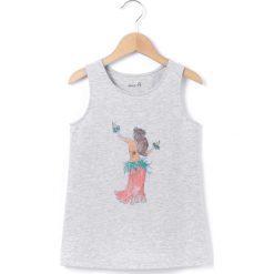Bluzki dziewczęce bawełniane: Koszulka na ramiaczkach, okrągły dekolt, bez rękawów