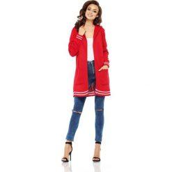 Luźny casualowy sweter narzutka  [czerwony] - 2
