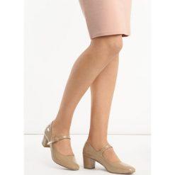 Buty ślubne damskie: Beżowe Czółenka Gambit