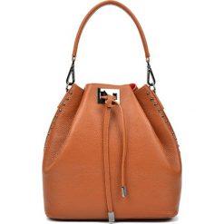 Torebki klasyczne damskie: Skórzana torebka w kolorze jasnobrązowym – (S)30,5 x (W)42 x (G)16 cm