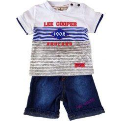 T-shirty chłopięce z nadrukiem: 2-częściowy zestaw w kolorze niebieskim