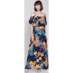 Sukienki: Granatowa Sukienka I Can Do It