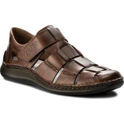 Sandały męskie skórzane: Sandały RIEKER – 05273-25 Brown
