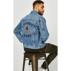 Tommy Jeans - Kurtka. Szare kurtki męskie jeansowe marki Tommy Jeans, l, z haftami. Za 899,90 zł.