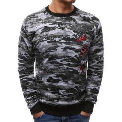 Bluzy męskie: Bluza męska camo czarno-szare (bx3465)