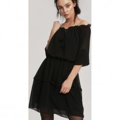 Czarna Sukienka Homogeneity. Czarne sukienki hiszpanki other, uniwersalny, mini. Za 69,99 zł.