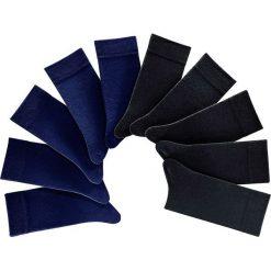 Skarpetki H.I.S (10 par) bonprix czarno-ciemnoniebieski. Czarne skarpetki męskie bonprix. Za 79,90 zł.