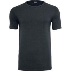 Urban Classics Fitted Stretch Tee T-Shirt czarny. Niebieskie t-shirty męskie marki Urban Classics, l, z okrągłym kołnierzem. Za 42,90 zł.