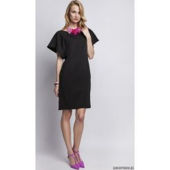 Sukienki hiszpanki: SUKIENKA Z ORYGINALNYMI RĘKAWAMI, SUK104 czarny