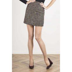 Spódniczki: Prosta Mini Spódnica w Kratkę