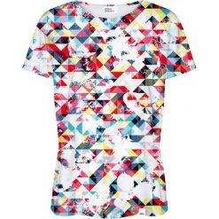 Colour Pleasure Koszulka damska CP-030 16 biało-niebieska r. XXXL/XXXXL. Białe bluzki damskie marki Colour pleasure. Za 70,35 zł.
