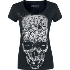 Gothicana by EMP Keep Me Going Koszulka damska czarny. Czarne bluzki asymetryczne Gothicana by EMP, l, z nadrukiem, z okrągłym kołnierzem, z krótkim rękawem. Za 56,90 zł.