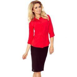Prosta koszula z GUZIKAMI - CZERWONA. Czerwone koszule damskie marki morimia, s, biznesowe. Za 109,99 zł.
