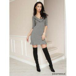 Sukienki: Sukienka szara LL100001_RAL7039